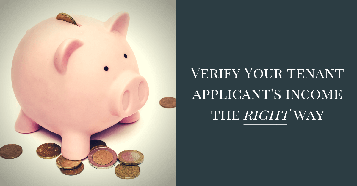 Verify you tenant applicant's income the right way